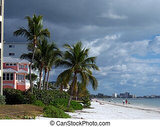 A View Down Fort Myers Beach - View of a section of Fort...