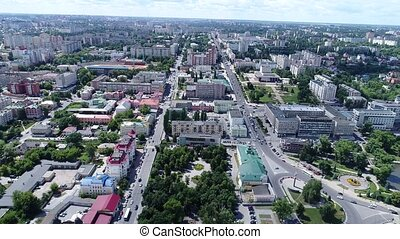 view from above on city of Lipetsk in Russia - A view from...