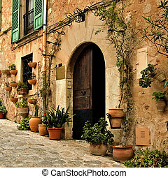 mediterranean village - a view of a little old mediterranean...