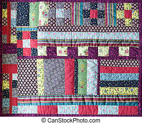view of  beautiful patchwork quilt