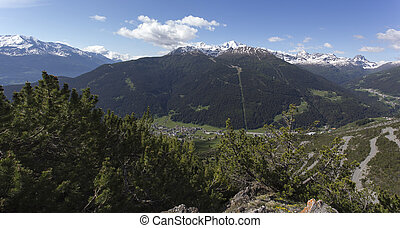 A view of Bormio from mountain