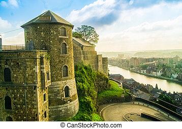 A view of Citadel of Namur, Wallonia, Belgium
