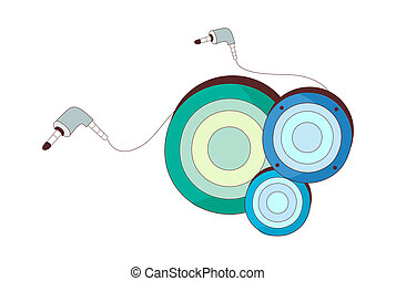 A view of earphone