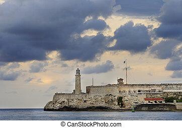 Morro fortress in Havana Bay