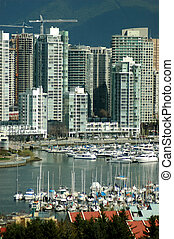 False Creek - A view of False Creek in downtown Vancouver,...