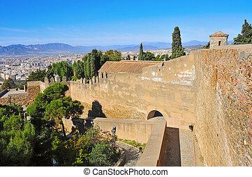 Gibralfaro Castle in Malaga, Spain