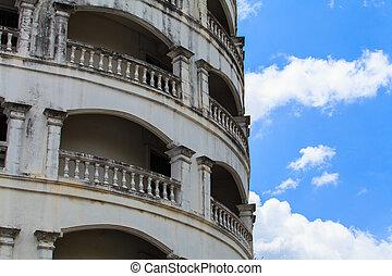 A view of hotel facade