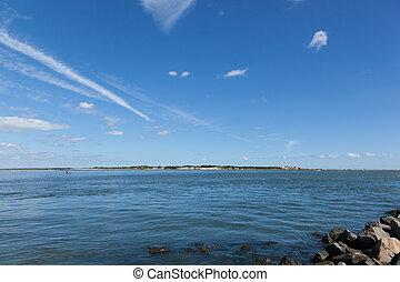 Island Beach State Park - A view of Island Beach State Park ...
