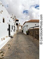 A view of  Juan Bethencourt street in Betancuria on Fuerteventura, Canary Islands, Spain