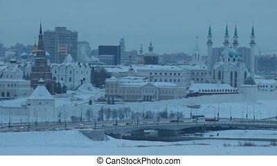A view of Kazan, main site - central mosque. Kazan city...