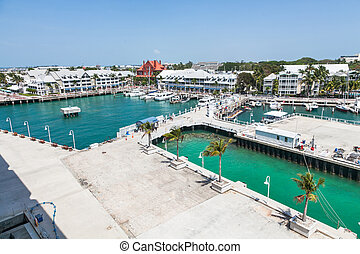 Key West - A view of Key West from a cruise ship