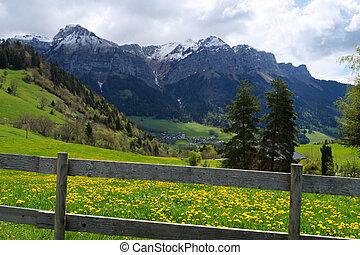 a view of La Tournette summit near Annecy lake