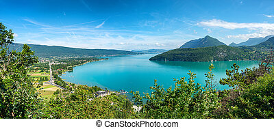 view of Lake Annecy in the French Alps - a view of Lake...