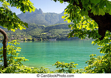 view of lake of Annecy, french Alps