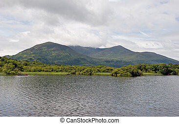 A view of Lough Leane in Killarney National Park, Ireland
