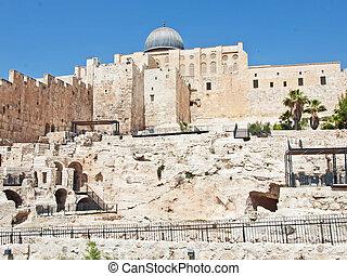 A view of Mosque Al-Aqsa in Jerusalem