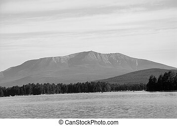 Mt. Katahdin - A view of Mt. Katahdin across Lake...