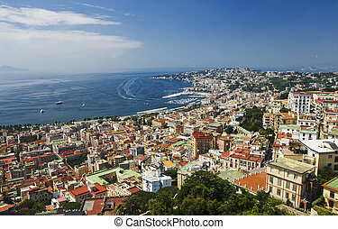 A view of Napoli, Italy - A view of Naples from the Sant'...