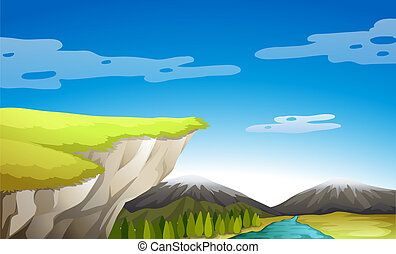 A view of nature - Illustration of a view of nature