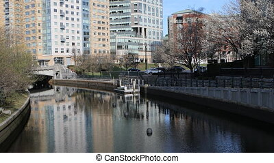 View of Providence, Rhode Island city center - A View of...