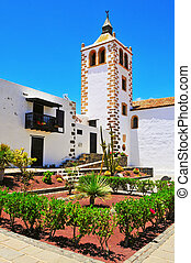 a view of Santa Maria de Betancuria Church in Fuerteventura, Canary Islands, Spain