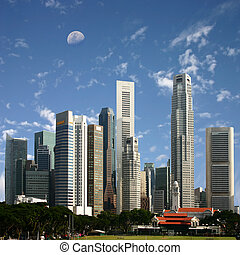 Singapore - A View of Singapore City