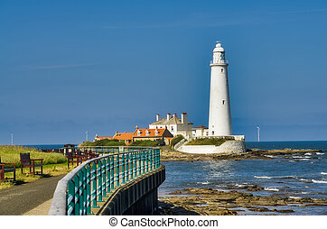 A view of St Mary's Lighthouse, Whitley Bay, Tyne and Wear