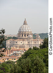 A view of St. Peter's Basilica taken from the Janiculum Hill...