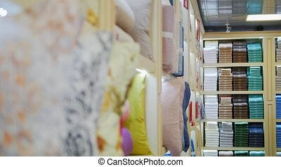 A view of textile store - A mid view of textile store