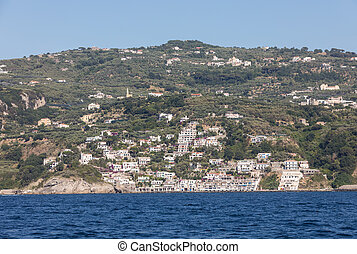 A view of the Amalfi Coast between Sorrento and Positano....