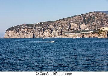 A view of the Amalfi Coast near Sorrento . Campania. Italy