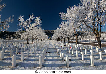 Black Hills National Cemetery - A view of the Black Hills...