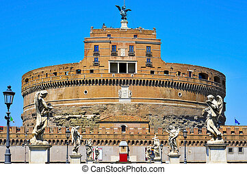 Castel Sant Angelo in Rome, Italy - A view of the Castel ...