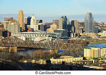 View of the Cincinnati, Ohio skyline