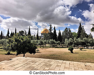 A view of the Dome of the Rock in Jerusalem