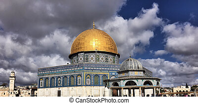 A view of the Dome of the Rock