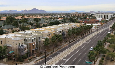 View of the downtown in Phoenix, Arizona - A View of the...