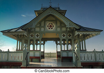 A view of the gazebo on Canada's Parliament hill