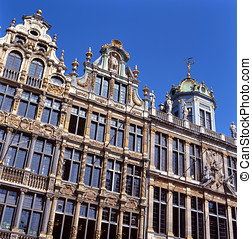 A view of the Grand Place in Brussels, Belgium. This spot is...