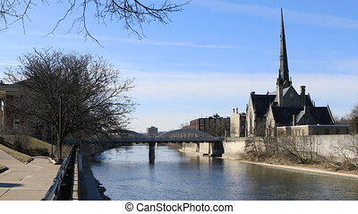 View of the Grand River in Cambridge, Canada