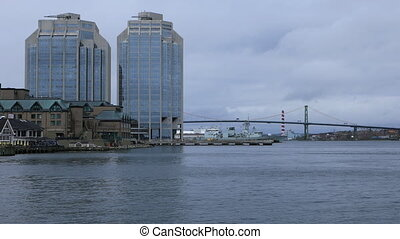 View of the Halifax, Nova Scotia harbour - A View of the...
