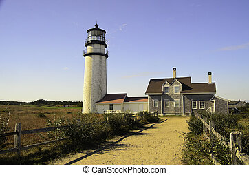 Highland lighthouse - A view of the Highland lighthouse on...