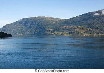A view of the Nordfjord at Olden in western Norway