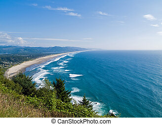 A View of the Ocean from a Scenic Overlook