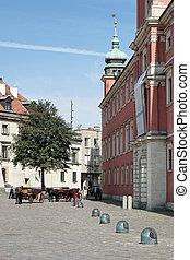 A view of the Old Market Square in Warsaw