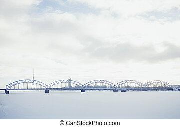 Bridge over Daugava river in Riga