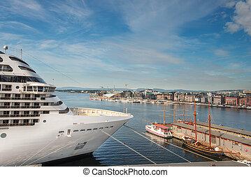 Oslo fjord and Akerbrygge