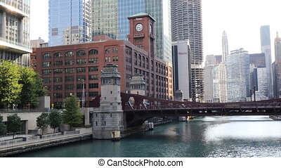 View of the Riverwalk in Chicago