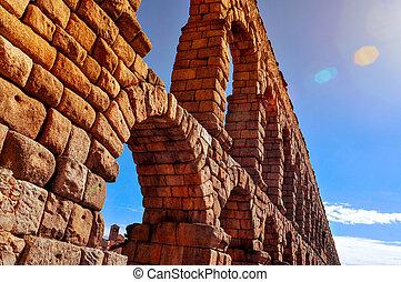 Aqueduct of Segovia, in Spain