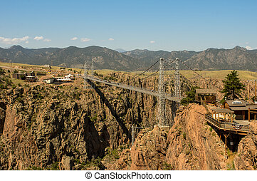 Royal Gorge Bridge - A view of the Royal Gorge Bridge in ...